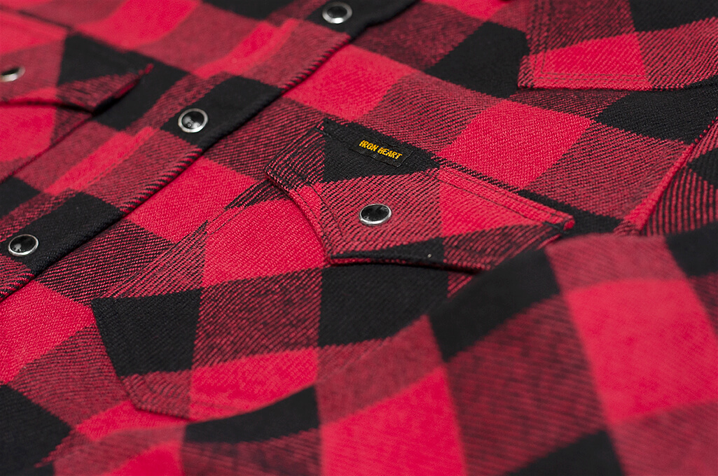 Iron Heart Ultra-Heavy Flannel - Red/Black - Image 7