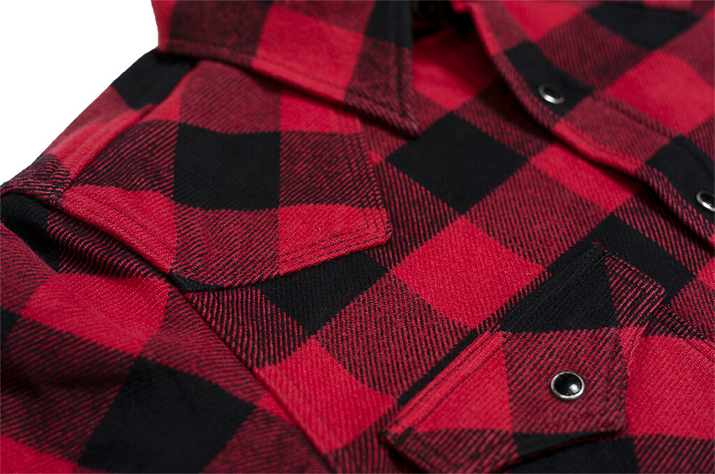 Iron Heart Ultra-Heavy Flannel - Red/Black - Image 10