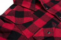 Iron Heart Ultra-Heavy Flannel - Red/Black - Image 5