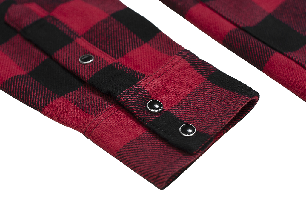 Iron Heart Ultra-Heavy Flannel - Red/Black - Image 11