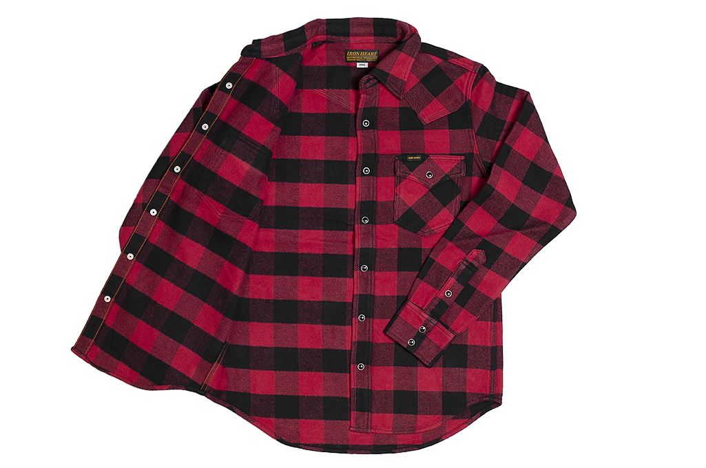 Iron Heart Ultra-Heavy Flannel - Red/Black - Image 12