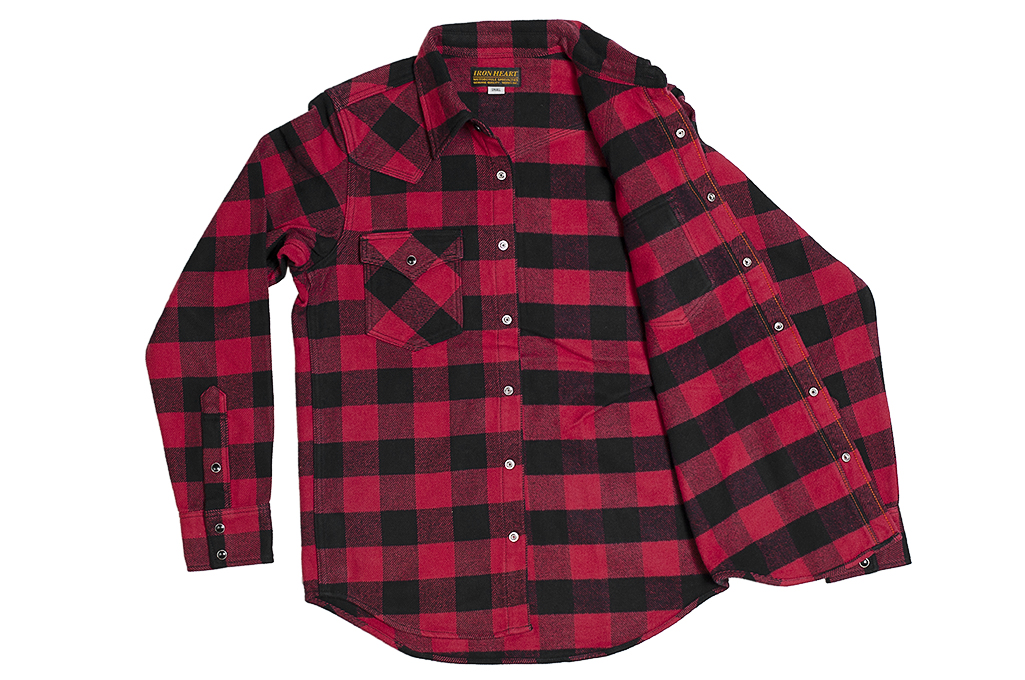 Iron Heart Ultra-Heavy Flannel - Red/Black - Image 13