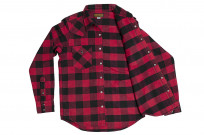 Iron Heart Ultra-Heavy Flannel - Red/Black - Image 8