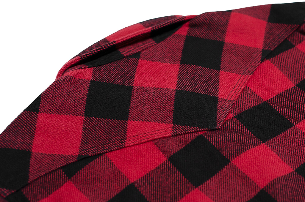 Iron Heart Ultra-Heavy Flannel - Red/Black - Image 17