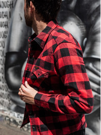 Iron Heart Ultra-Heavy Flannel - Red/Black - Image 20
