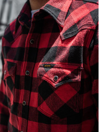 Iron Heart Ultra-Heavy Flannel - Red/Black - Image 21
