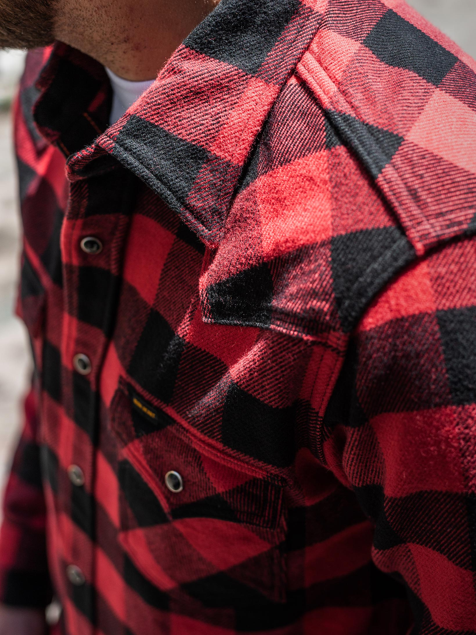 Iron Heart Ultra-Heavy Flannel - Red/Black - Image 22