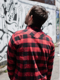 Iron Heart Ultra-Heavy Flannel - Red/Black - Image 23