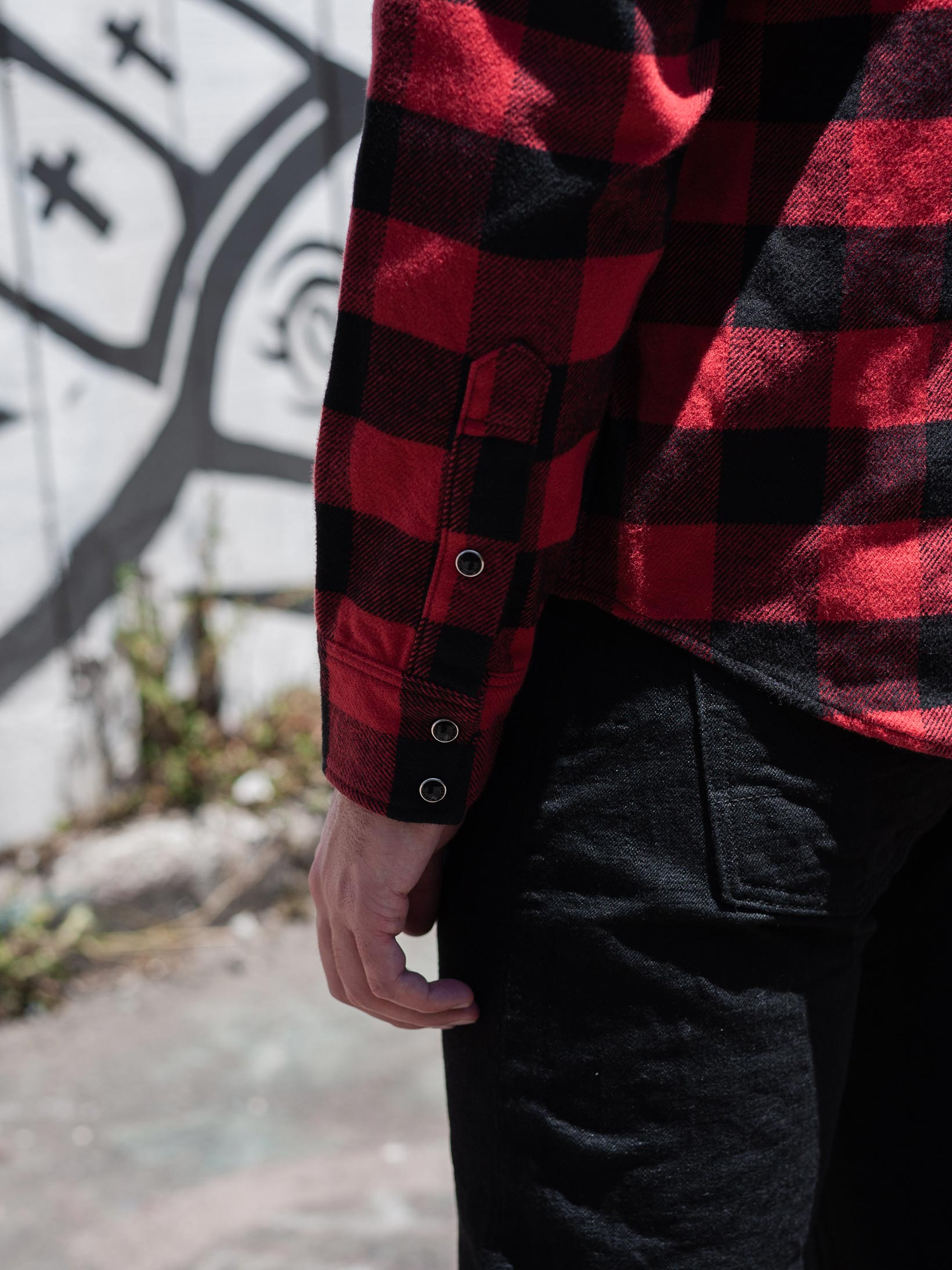 Iron Heart Ultra-Heavy Flannel - Red/Black - Image 24