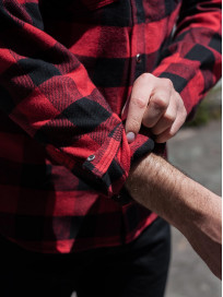Iron Heart Ultra-Heavy Flannel - Red/Black - Image 25