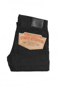 Studio D'Artisan SE-001 G3 Jeans - Straight Tapered Black - Image 4