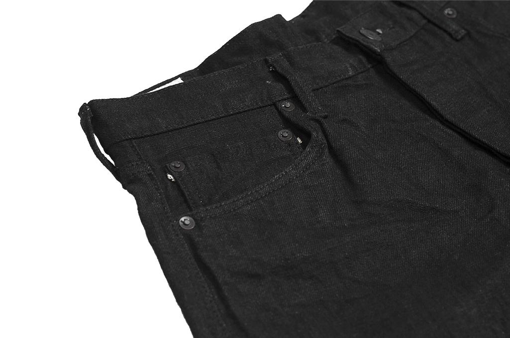 Studio D'Artisan SE-001 G3 Jeans - Straight Tapered Black - Image 7