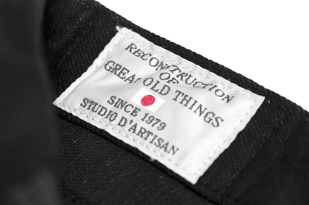 Studio D'Artisan SE-001 G3 Jeans - Straight Tapered Black - Image 17