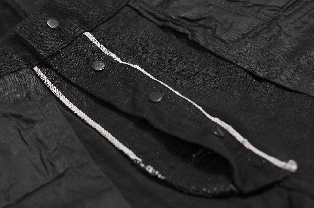Studio D'Artisan SE-001 G3 Jeans - Straight Tapered Black - Image 19