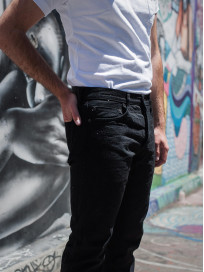 Studio D'Artisan SE-001 G3 Jeans - Straight Tapered Black - Image 25
