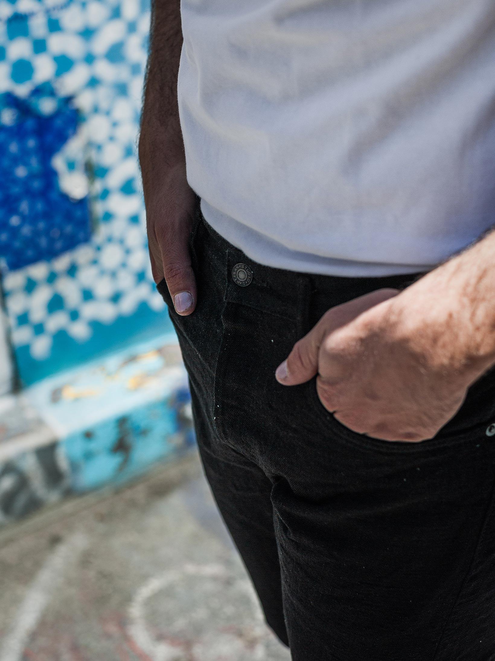 Studio D'Artisan SE-001 G3 Jeans - Straight Tapered Black - Image 28