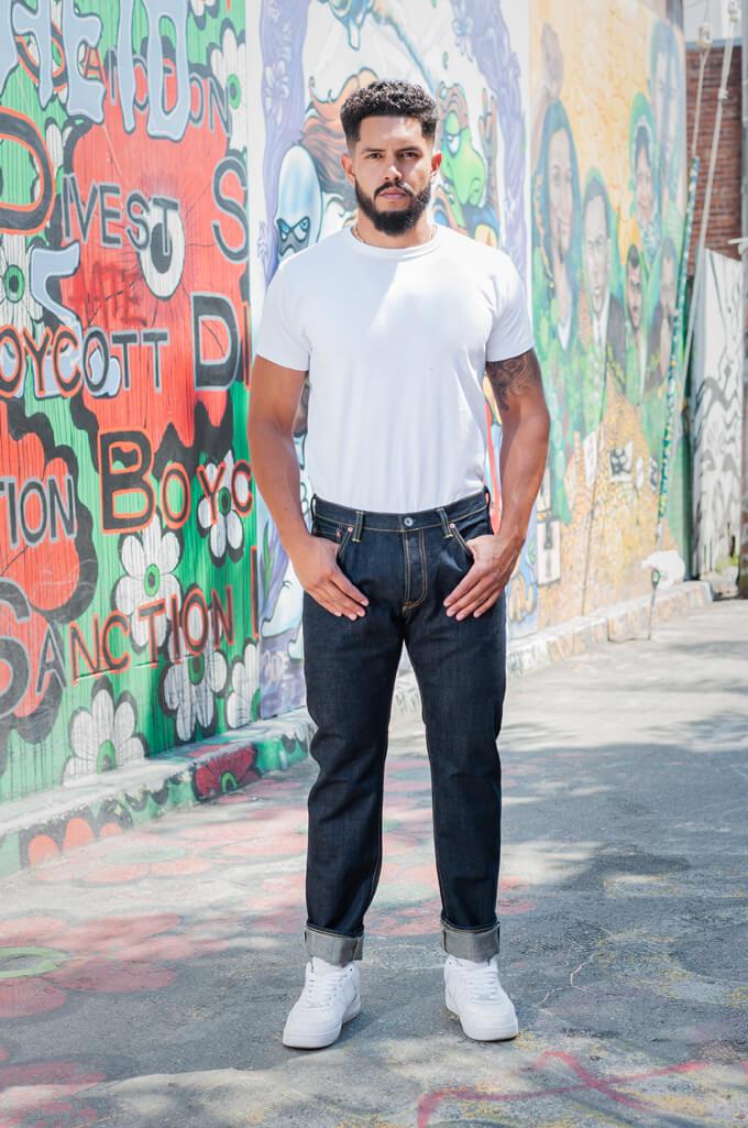 Iron Heart 777N 17oz Natural Indigo Jeans - Slim Tapered - Image 0