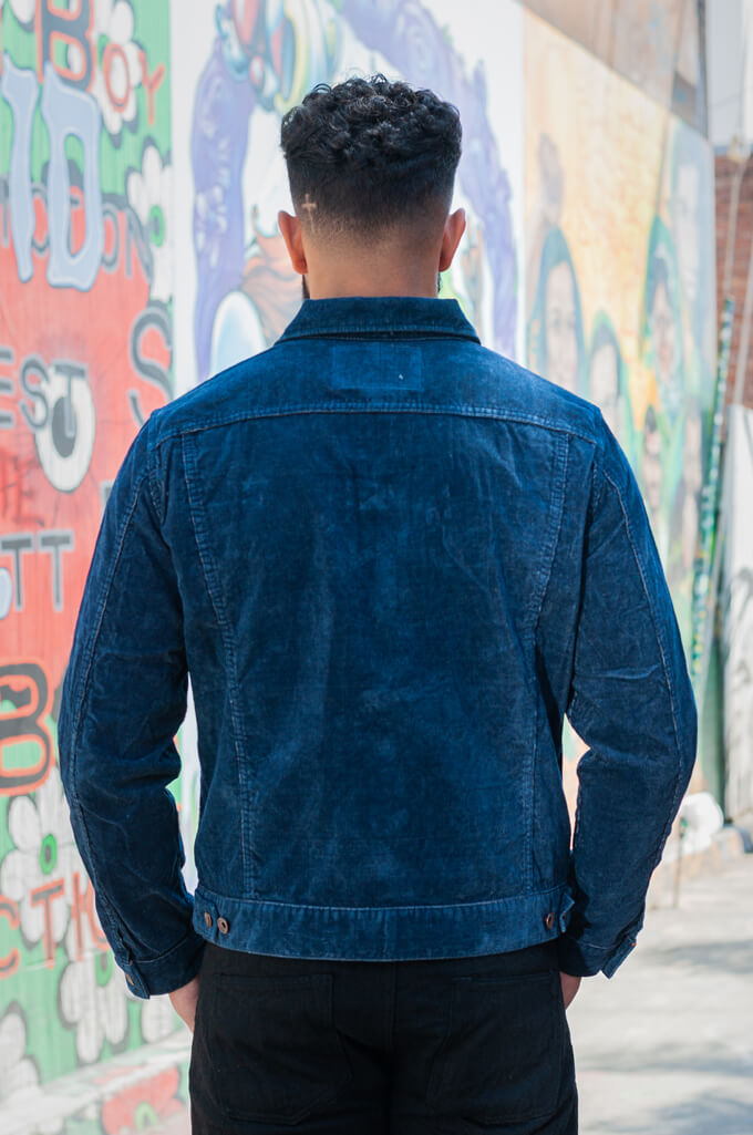 Iron Heart Corduroy Modified Type III Jacket - Indigo Dyed - Image 1
