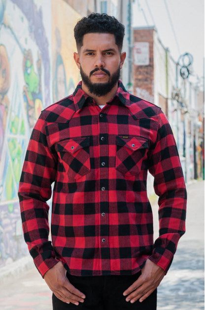 Iron Heart Ultra-Heavy Flannel - Red/Black