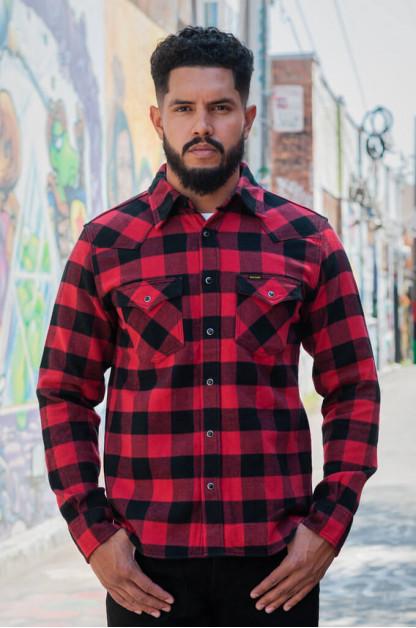 Iron Heart Ultra-Heavy Flannel - Red/Black