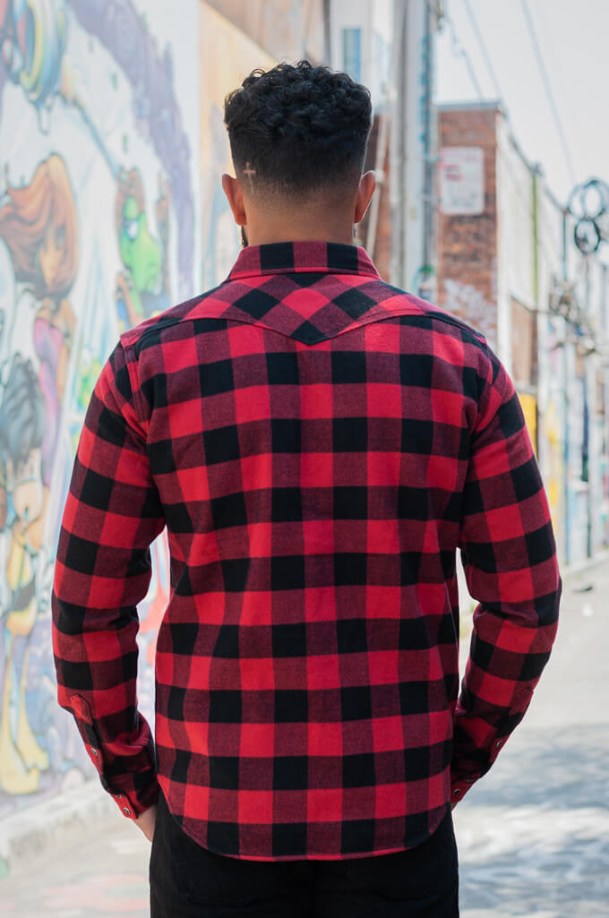 Iron Heart Ultra-Heavy Flannel - Red/Black - Image 1