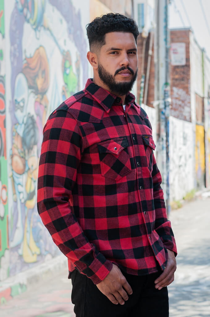 Iron Heart Ultra-Heavy Flannel - Red/Black - Image 2