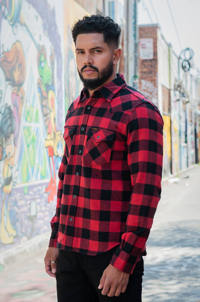 Iron Heart Ultra-Heavy Flannel - Red/Black - Image 3
