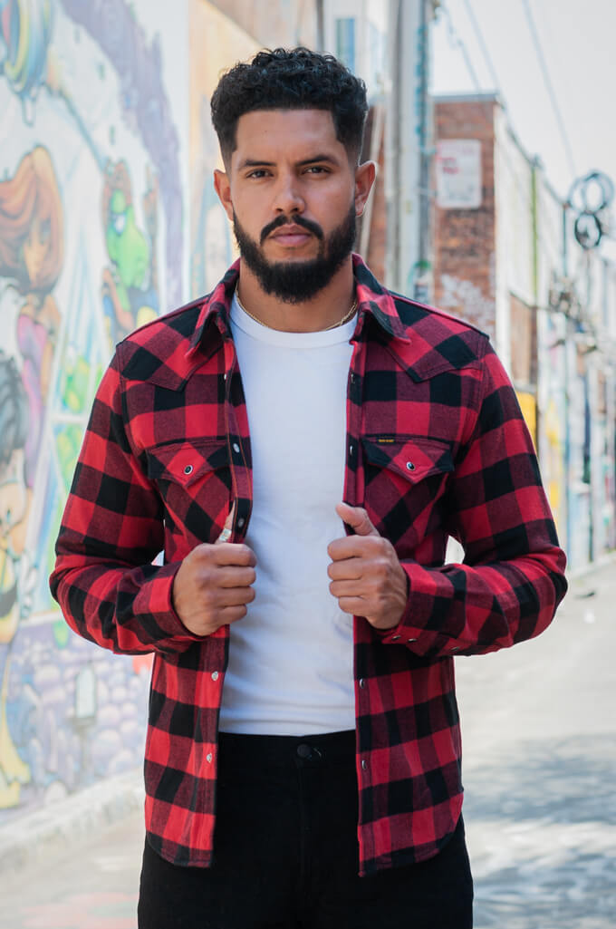 Iron Heart Ultra-Heavy Flannel - Red/Black - Image 4