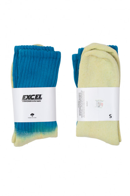 EXCEL / PLAY 2WIN - Hand-Dyed Socks / Blue Top