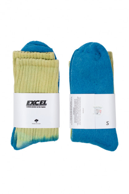 EXCEL / PLAY 2WIN - Hand-Dyed Socks / Yellow Top