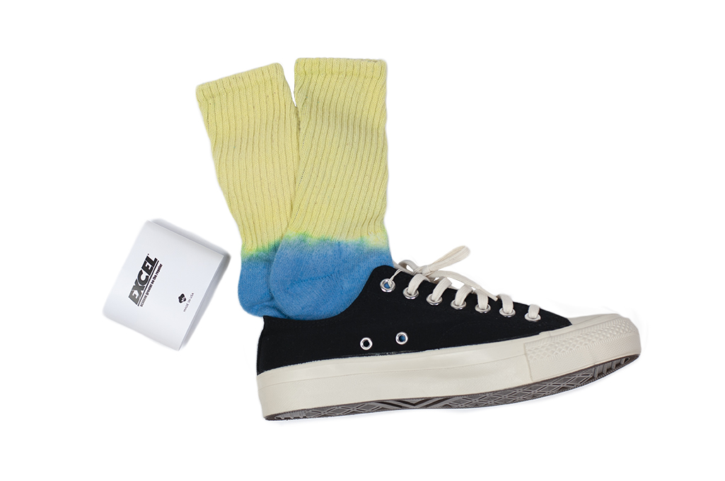 EXCEL / PLAY 2WIN - Hand-Dyed Socks / Yellow Top - Image 3