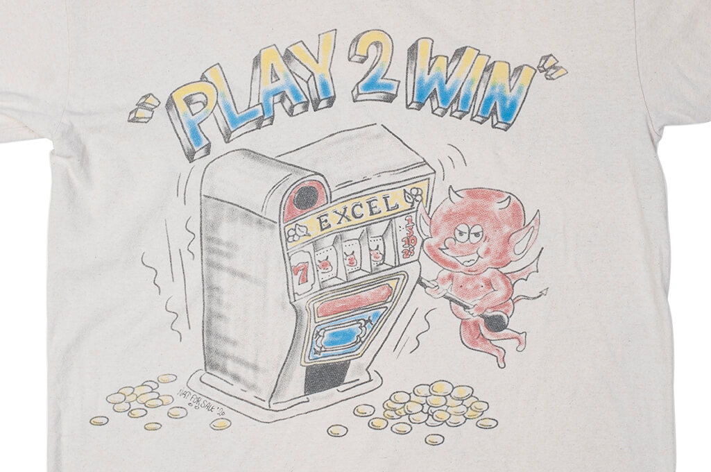 EXCEL / PLAY 2WIN - Vintage Airbrushed T-Shirt - Image 2