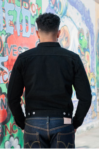 Iron Heart Type II Denim Jacket - 14oz Black/Black - Image 2