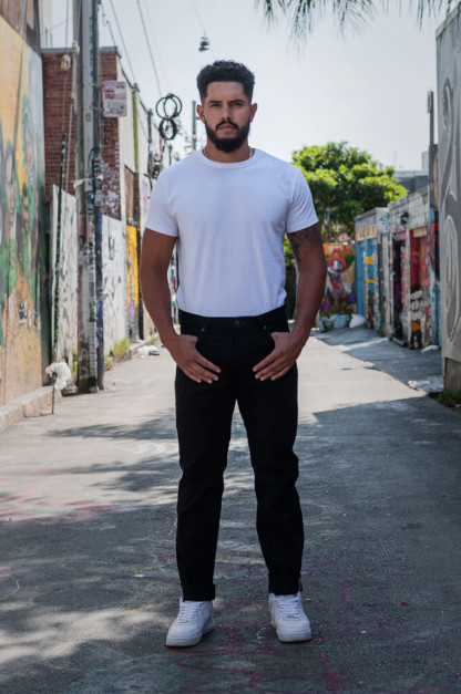 Studio D'Artisan SE-001 G3 Jeans - Straight Tapered Black