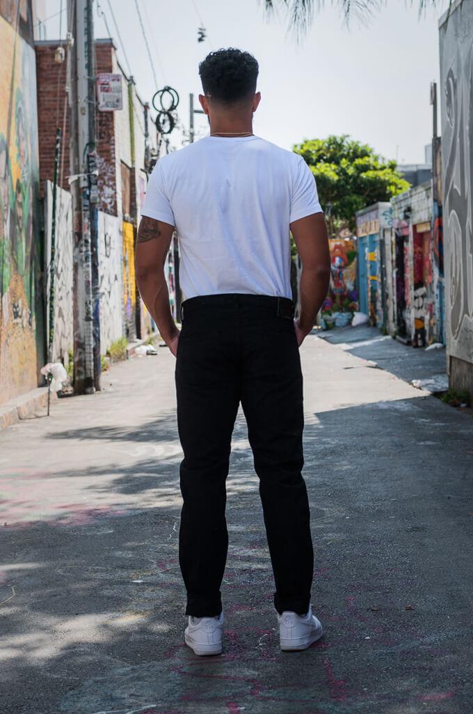 Studio D'Artisan SE-001 G3 Jeans - Straight Tapered Black - Image 1