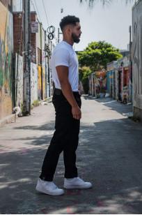 Studio D'Artisan SE-001 G3 Jeans - Straight Tapered Black - Image 2