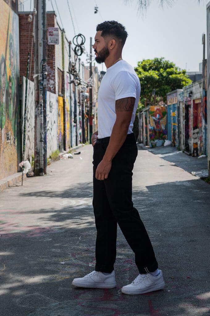 Studio D'Artisan SE-001 G3 Jeans - Straight Tapered Black - Image 3