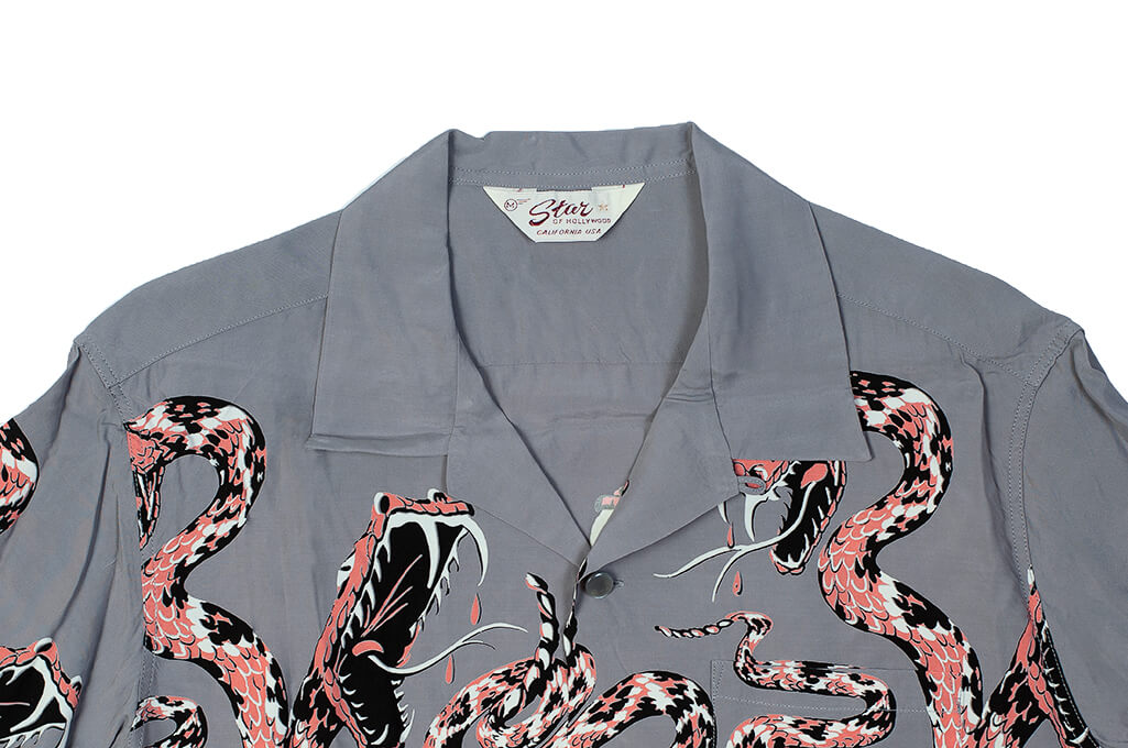 Star of Hollywood High Density Rayon Shirt - Rattle-Tattle Snakes - Image 5