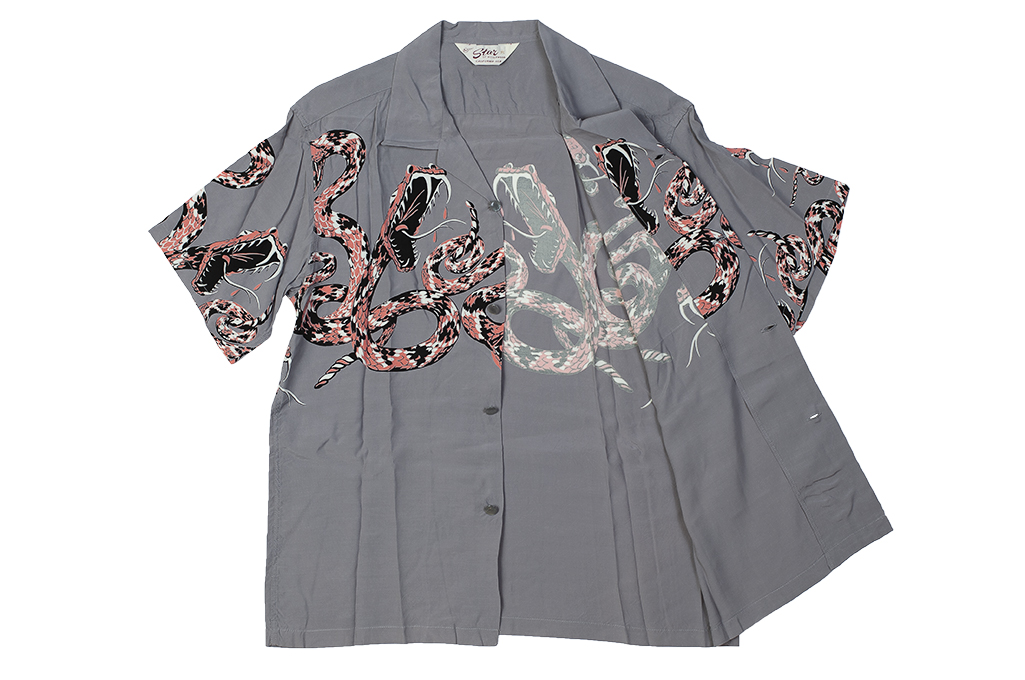 Star of Hollywood High Density Rayon Shirt - Rattle-Tattle Snakes - Image 8