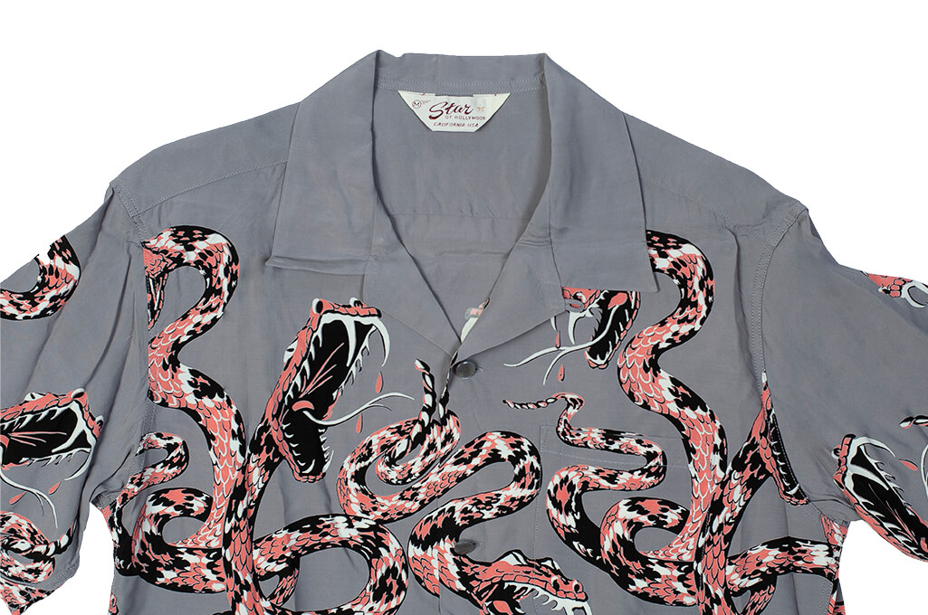 Star of Hollywood High Density Rayon Shirt - Rattle-Tattle Snakes - Image 9