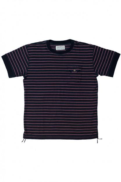 Sugar Cane Pocket T-Shirt - Special Indigo Dobby