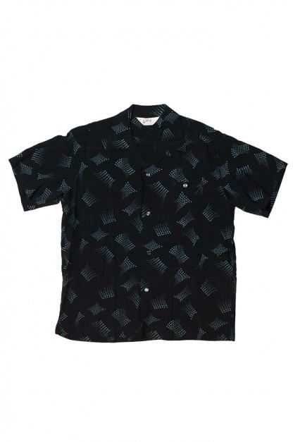 Star of Hollywood High Density Rayon Shirt - Dotted Tipsy Black