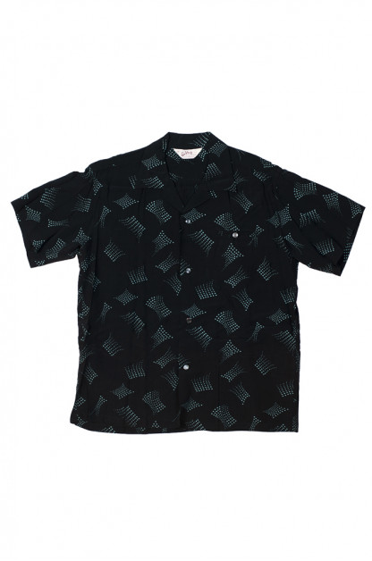 Star of Hollywood High Density Rayon Shirt - Dotted Tipsy Black