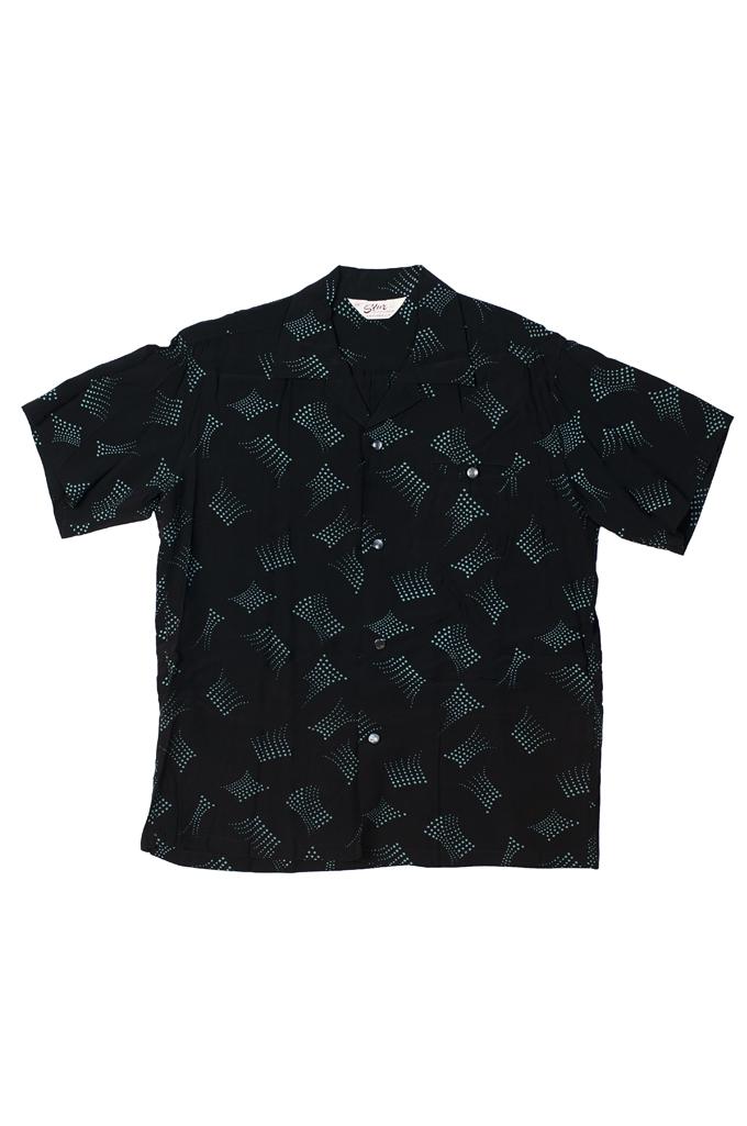 Star of Hollywood High Density Rayon Shirt - Dotted Tipsy Black - Image 0