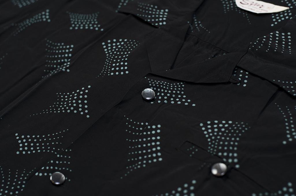 Star of Hollywood High Density Rayon Shirt - Dotted Tipsy Black - Image 3
