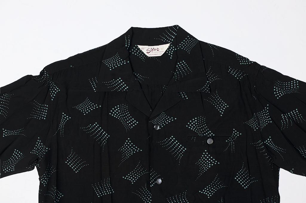 Star of Hollywood High Density Rayon Shirt - Dotted Tipsy Black - Image 4