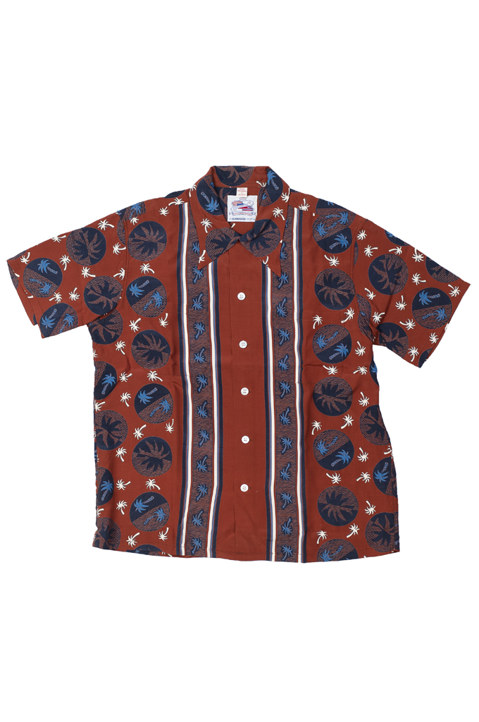 Sugar Cane Duke Shirt - Brown Excellence in The Form of Palm Trees - Image 0