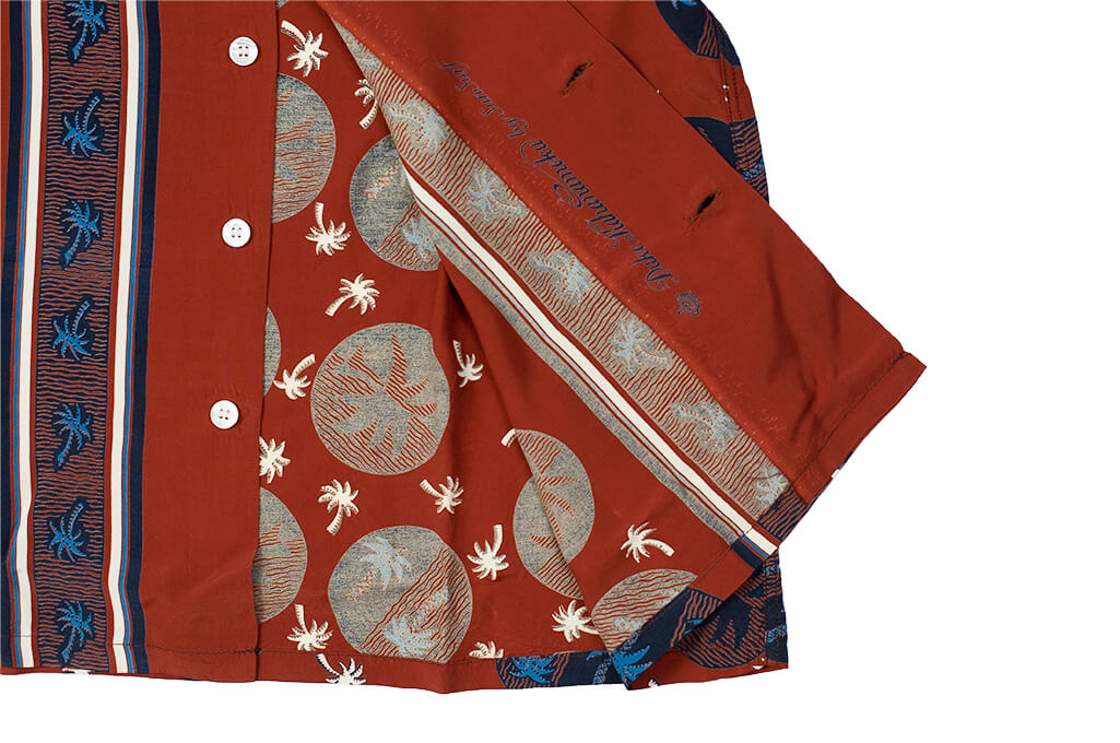 Sugar Cane Duke Shirt - Brown Excellence in The Form of Palm Trees - Image 9