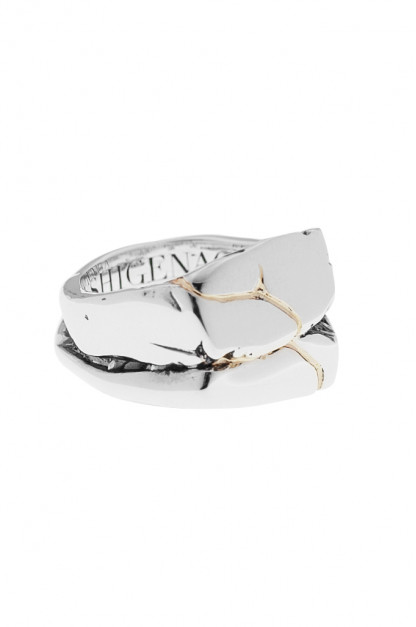 Kei Shigenaga Sterling Silver & 18k Gold Ring - Koryu