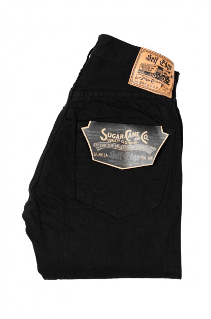 Sugar Cane for Self Edge - BSPBK - Straight Tapered 13oz Black/Black